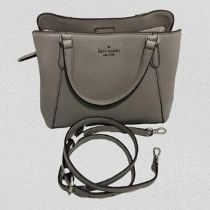 NWT Kate Spade Jackson Grey Medium Handbag w/Strap